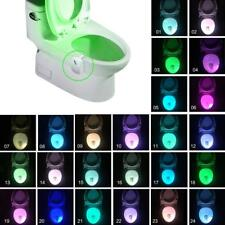 8/16/24 Colors LED Toilet Light Bathroom Night Light Motion Sensor Seat Lamp Lot
