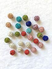26 Stück Strassperlen Mix Beads Perlen Shamballa gemischt 10 mm (1096)