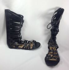 American Rag Amaya Women Shoes Mid-Calf Gladiator Sandals Black Sz 8 M