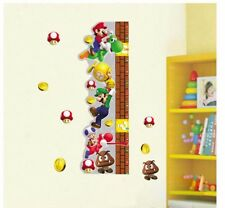 Super Mario Height Chart Cartoon Wall Sticker Vinyl Mural Decal Kids Room Decor