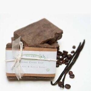 Alphy&Becs Soap Bar 100% Natural Coffe & Vanilla Handmade In UK Plastic Free