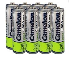 Camelion AA Size Ni-Cd 1.2V 600mAh Rechargeable Batteries - 8 Pack