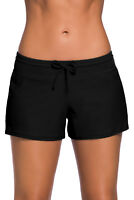 Women Sexy Swimsuit Black Swim Boardshort Shorts