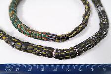 Vieja abalorios chevron Yellow Jacket old Venetian African Trade beads afrozip