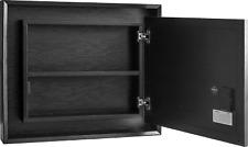ShadowBox Mirror Picture Frame Diversion Safe 20x16 Black