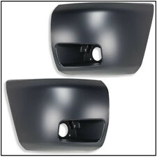 New Set of 2 Front Bumper Ends w/Fog Light Holes for Chevy Silverado 1500 Pair