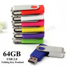 64G Clé USB 2.0 Mémoire Flash Drive STICK Storage DISK Win 7/10 PC Noir