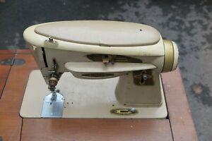 VINTAGE SINGER ROCKETEER 503A Slant-O-matic Sewing Machine AND Modern Cabinet