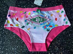 Harry Potter Honeydukes Sweet Shop Hogsmeade Print  Ladies Briefs Pink Size 18