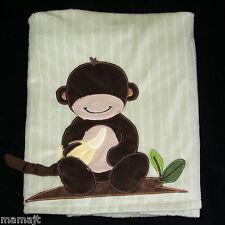 Lambs & Ivy Green Monkey Baby Blanket Banana
