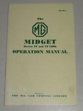 Betriebsanleitung MG Midget TF + TF 1500, Baujahre 1953 - 1955