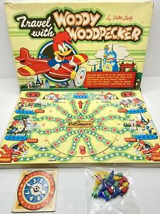Complete Original TRAVEL WITH WOODY WOODPECKER Board Game