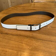 Mens New  Kenneth Cole White And Gray Reversable Belt Size 40