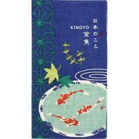 HAMAMONYO Tenugui Bon®'About Japanese Goldfish'(Japanese Cotton Hand Towel Book)