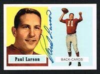 Paul Larson #146 signed autograph auto 1994 Topps 1957 Archives Football Card