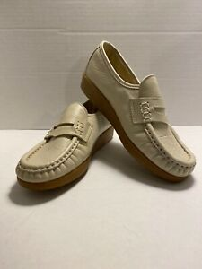 SAS METRO Grey LEATHER Loafer Moccasin FREE SHIPPING Womens 5 NEW W/O Box