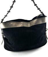 Redwall Black Suede Women's shoulder Bag