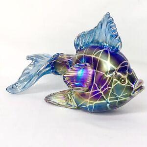 Stuart Abelman Hand Blown Art Glass 2012 Fancy Goldfish