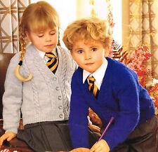 Knitting Pattern: SWEATER & CARDIGAN IN DK for BOYS & GIRLS/ CHILDRENS PATTERN