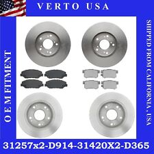 Front & Rear Brake Rotors-Pads For Honda Civic EX & EX-L 2013-2014-2015