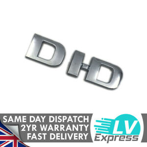 DID Chrome Badge Tailgate Boot Rear Wing Door Upgrade 75X22mm Fits D-iD Models