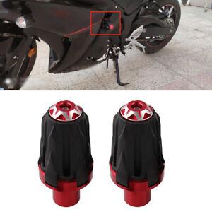 2PCS Motorcycle10MM Frame Engine Anti-falling Protector Ground Crash Slider Cap