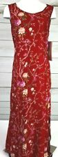 New Jane Ashley Women's Long Floral Sleeveless Red Dress Size Medium NWT A3416