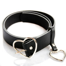 Women Accessory Leather Metal Buckle Golden Silver Belt  Waistband Gift Present