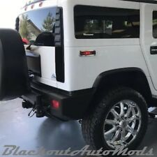 Hummer H2 Blackout Tail Light Covers 2003 thru 2009 Models Free Shipping (Fits: Hummer)