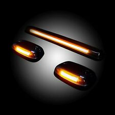 RECON 264156CLHP GMC Chevy 07-13 (2nd Gen Body) 3 piece Clear-Amber Cab Light