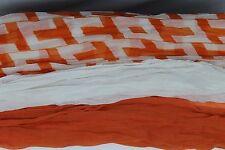 Triple Layer Scarf Orange White and UT Print