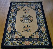 3' X 5'  PEKING CHINESE HAND KNOTTED WOOL ORIENTAL RUG