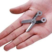 Survival Mini Outdoor Mini Spring Scissor Pocket Tool Stainless C Key V4H1 F5E3