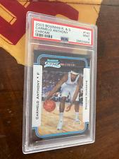 Carmelo Anthony 2003 Bowman Chrome Rookie Card PSA Graded 9 Mint NBA