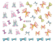 Nail Art 3D Decals Transfers Stickers Jo Bows (E223)