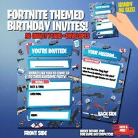 10 X Birthday Party Invitations For Boys/Girls Invites Game Childrens Cards 🕹️