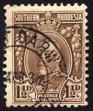 Southern Rhodesia SG 16c Cat £38 1.5d Brown Line Perf 12 Fine Used