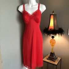 Vtg Kayser Beautiful .Classy.Sexy.Red Full Slip Size 34: She Is Gorgeous��