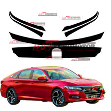MB Front Grille Sticker Decal for 2018 Honda Accord Chrome Trim blackout overlay