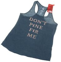 """North Face Womens """"Don't Pine For Me"""" Tank Top Heather Blue (Large)"""