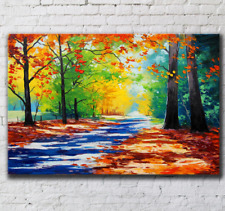 Autumn leaves Canvas Prints Wall Art Home Decor Framed Painting 60x90