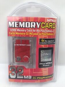 Nyko Memory Card 32MB Playstation 2 - Clear - Brand New