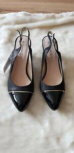"Ladies BNIB ""GOODIN"" Black Slingback Court Shoes (Size 6)"