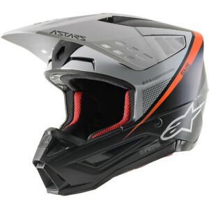 Alpinestars SM5 Offroad Helmet (Rayon - Matte Black / White / Orange) M
