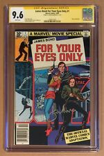 JAMES BOND FOR YOUR EYES ONLY #1 (1981) 007 • CGC SS • SIGNED BY ROGER MOORE