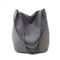 Women Big Leather Handbag Messenger Shoulder Bucket Bag Lady Tote Purse Satchel