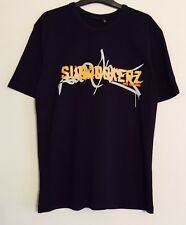 Chemise Homme en Coton Noir T Shirt subrockers d&b Rave Graffiti Logo Taille XL NEUF sans étiquette