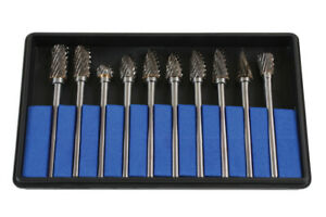 Laser 6989 10 Piece Tungsten Carbide Burr Set