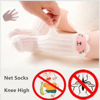 Toddler Kid Baby Summer Knee High Long Net Socks Cotton Casual Stockings 0-1 yr