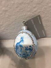 Patricia Breen Ornament Neiman Marcus Blue Spring Exclusive Petite Egg!